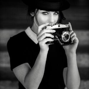 shooting,model,schwarz-weiss